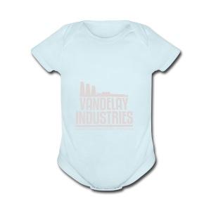 VANDELAY logo - Short Sleeve Baby Bodysuit