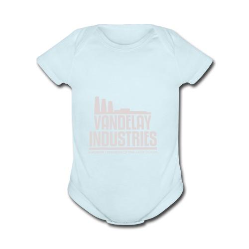VANDELAY logo - Organic Short Sleeve Baby Bodysuit