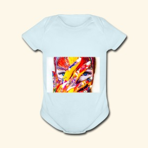 color - Short Sleeve Baby Bodysuit