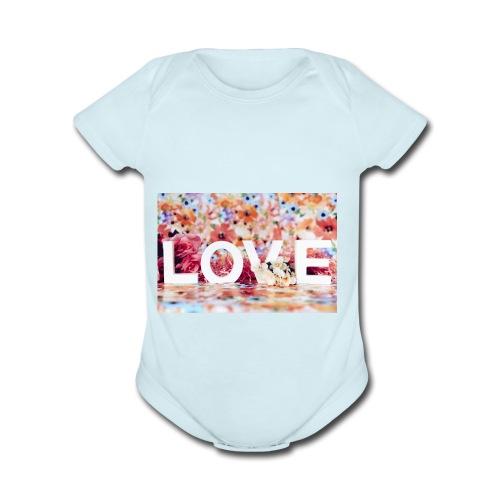 IMG 3092 - Organic Short Sleeve Baby Bodysuit