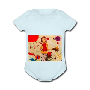 Psychobiology Bruja - Short Sleeve Baby Bodysuit
