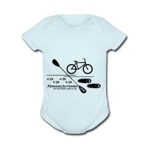 picture logo with .com - Short Sleeve Baby Bodysuit