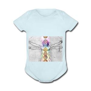 7 Chakras Yoga Meditation Apparel - Short Sleeve Baby Bodysuit