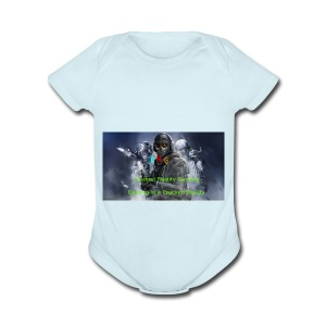 Cracked Reality Gaming Logo - Short Sleeve Baby Bodysuit