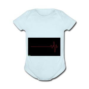 Heart Beat - Short Sleeve Baby Bodysuit