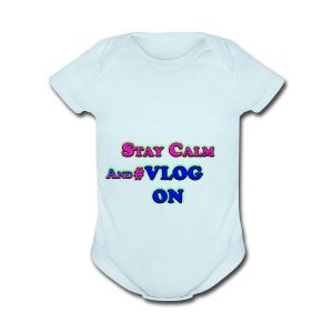 Vlog On - Short Sleeve Baby Bodysuit