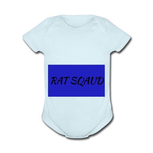 Rat sqaud - Organic Short Sleeve Baby Bodysuit