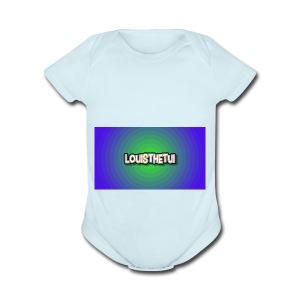 Cartoony Louisthetui Logo - Short Sleeve Baby Bodysuit