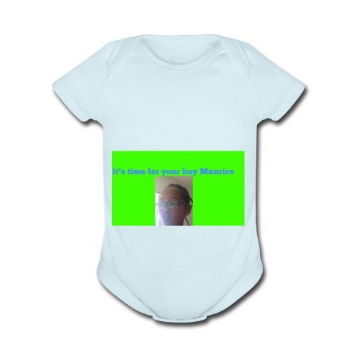 YOUR BOY MAURICE - Organic Short Sleeve Baby Bodysuit