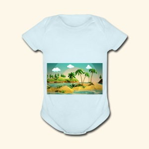 3d nature t-shirt - Short Sleeve Baby Bodysuit
