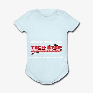 TS TShirtBackDesign2018 - Short Sleeve Baby Bodysuit