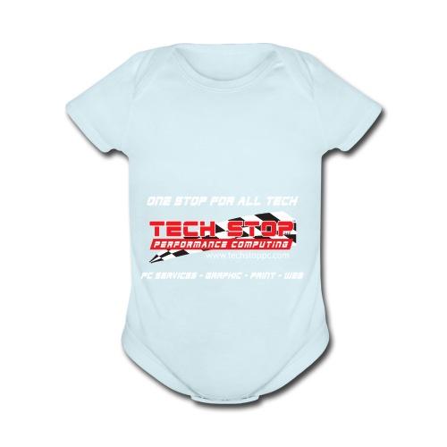 TS TShirtBackDesign2018 - Organic Short Sleeve Baby Bodysuit