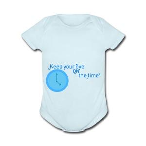 Time - Short Sleeve Baby Bodysuit