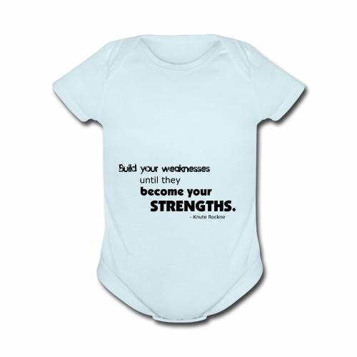 BuildYourWeaknesses - Organic Short Sleeve Baby Bodysuit