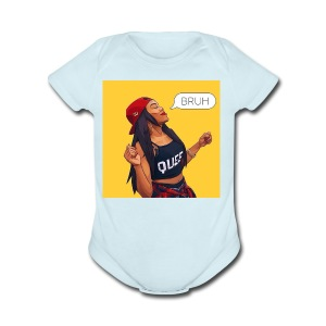 Bruh - Short Sleeve Baby Bodysuit