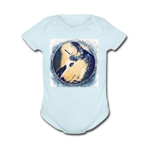 Spirit Wolfie Paint - Short Sleeve Baby Bodysuit