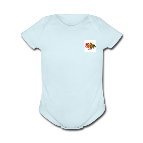 cheetah - Organic Short Sleeve Baby Bodysuit