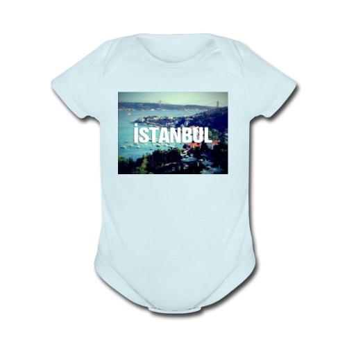 Istanbul Lovers - Organic Short Sleeve Baby Bodysuit