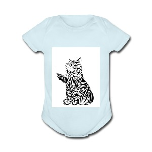 cats - Short Sleeve Baby Bodysuit
