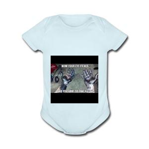 itchy eye - Short Sleeve Baby Bodysuit