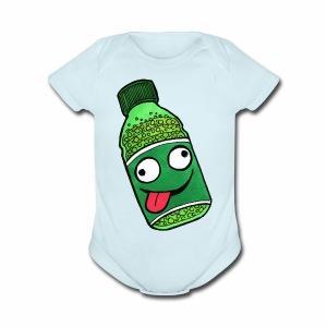 Crazy Soda - Short Sleeve Baby Bodysuit