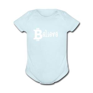 believe - Short Sleeve Baby Bodysuit