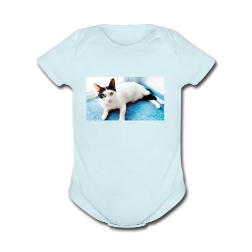 taco meowers - Organic Short Sleeve Baby Bodysuit