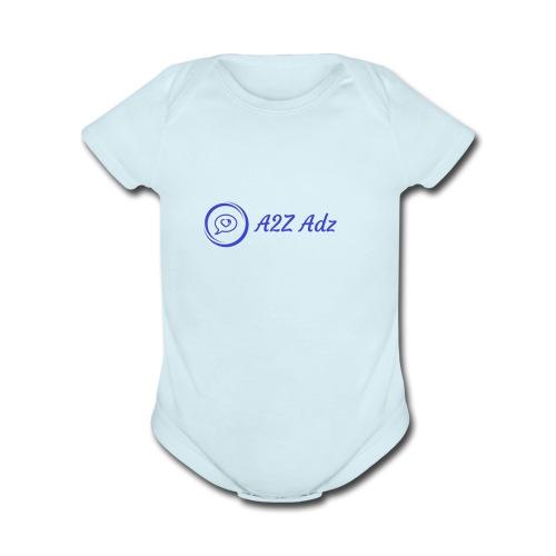 A2Z Adz logo - Organic Short Sleeve Baby Bodysuit