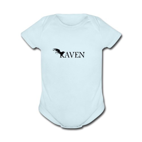 Raven Basic - Organic Short Sleeve Baby Bodysuit