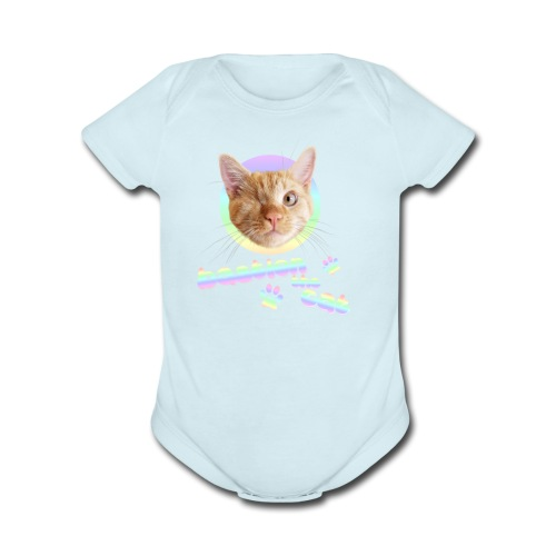 Bastion the Cat - Organic Short Sleeve Baby Bodysuit