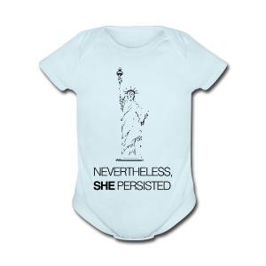 Nevertheless, SHE Persisted - Short Sleeve Baby Bodysuit