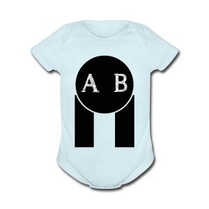 AB the best - Short Sleeve Baby Bodysuit