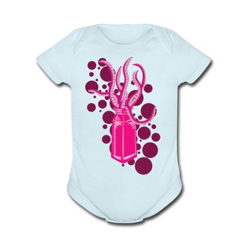 Monster In a Bottle - Organic Short Sleeve Baby Bodysuit