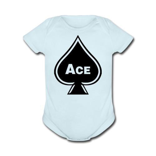 Ace - Organic Short Sleeve Baby Bodysuit