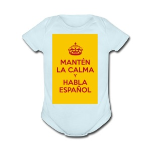 18cc4 keepcalmposter - Short Sleeve Baby Bodysuit