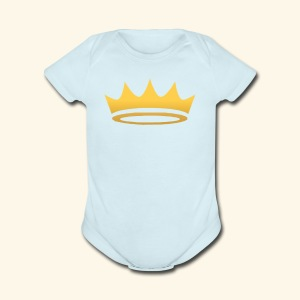 The Famous One - Crown - Short Sleeve Baby Bodysuit