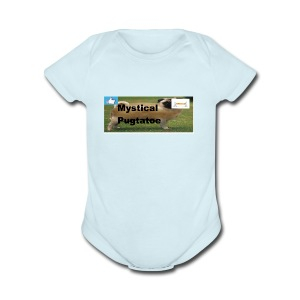 mystical pugtatoe symbol - Short Sleeve Baby Bodysuit