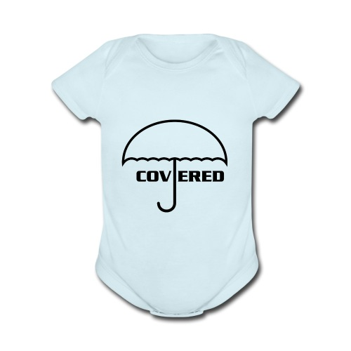 umbrella - Organic Short Sleeve Baby Bodysuit