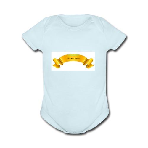 Gold PNG Image - Organic Short Sleeve Baby Bodysuit
