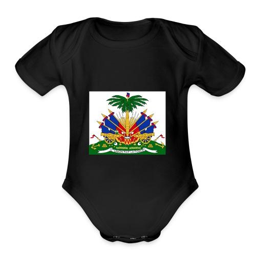 haitian 101 - Organic Short Sleeve Baby Bodysuit