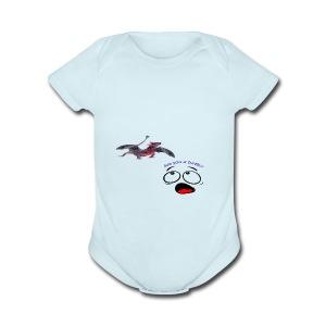 Confused - Short Sleeve Baby Bodysuit