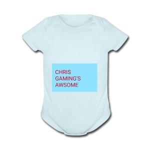 CHRIS GAMING'S AWSOME - Short Sleeve Baby Bodysuit