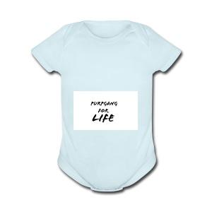 Purpgang - Short Sleeve Baby Bodysuit