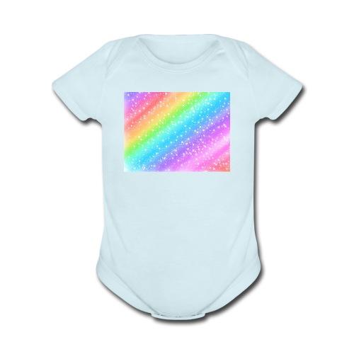 Rainbow - Organic Short Sleeve Baby Bodysuit