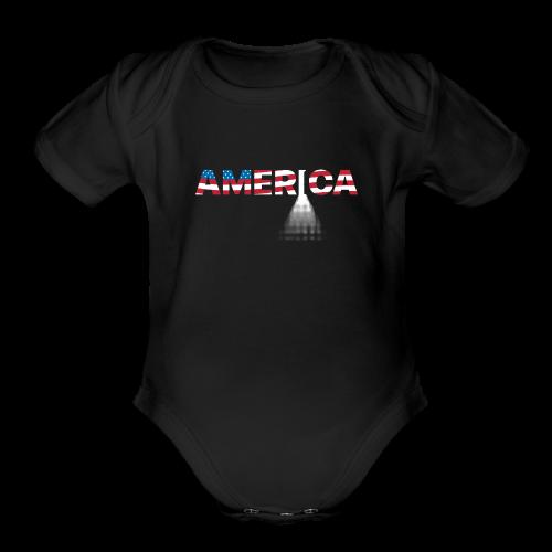 Open Door Policy - 005GS - Organic Short Sleeve Baby Bodysuit