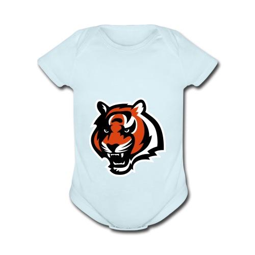 nfl logo black orange Logo - Organic Short Sleeve Baby Bodysuit