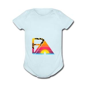 Beach theme - Short Sleeve Baby Bodysuit