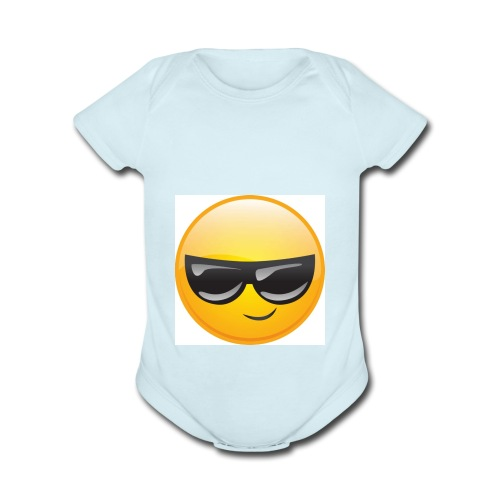 Cool Face - Organic Short Sleeve Baby Bodysuit