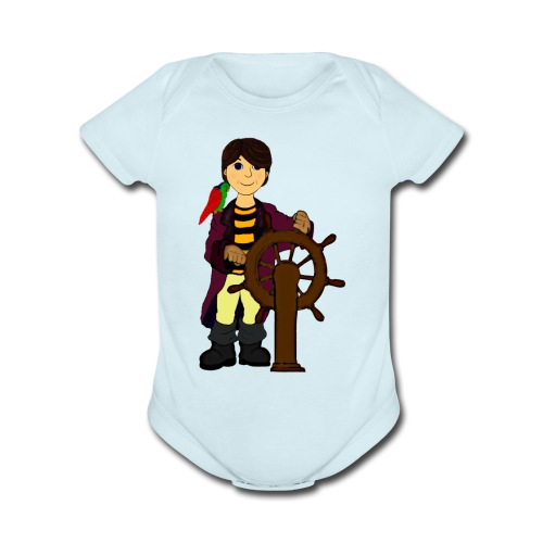 Alex the Great - Pirate - Organic Short Sleeve Baby Bodysuit