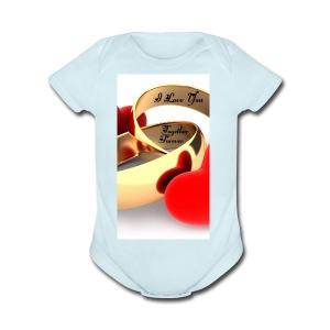 Forever Love - Short Sleeve Baby Bodysuit